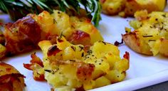 Salt and Vinegar Potatoes with Rosemary.  Damn, this sounds good!