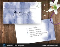 artist name card, Ombre Watercolor name card,blue watercolor business card, watercolour calling card, watercolour card style #CallingCard #GoldAndPinkStyle #BusinessCard #ModelNameCard #BlueCard #WatercolurStyle #SimpleNameCard #ArtistNameCart