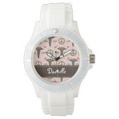 Personalized Peace Love Pharmacy Wrist Watch