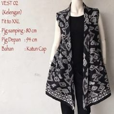 Model Cardigan Batik Vest Tanpa Lengan Motif Kelengan Call Order Whatsapp ( Text Only ) 082-135-313-738 Pin BB D919D352