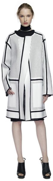 PROENZA SCHOULER Ss White Crochet Coat - Lyst