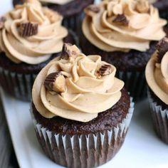 Reese's Peanut Butter Cupcakes from TastesBetterFromScratch.com