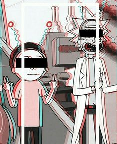 Rick and Morty get psychodelic
