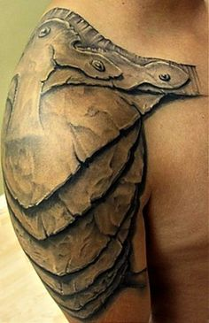 armor tattoo :) Wow...this is pretty cool.