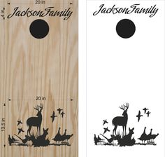 Turkey Doe Buck Deer Hunting Cornhole Board Vinyl Decal Sticker Graphic Bean Bag Toss