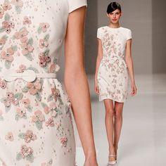 Gorgeous floral expression on a white canvas- #GEORGESHOBEIKA SS15 #Couture…