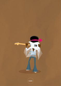 Jimi Hendrix #Jimi Hendrix, #Illustration, #ivodelo