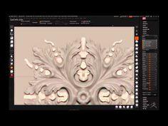 Digital sculpting of rosette - YouTube