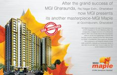 #MGIMAPLE located in #Govindpuram, #Ghaziabad, offers your own preference of 2/3 BHK #luxurious #apartments. The apartments are stunningly #designed to provide its #residents full #comfort. Each apartment is equipped with all the #modern #amenities and offers you to start a premium #life. See more @ http://www.mymgi.com/mgi-maple-luxurious-residential-project-in-govindpuram-ghaziabad.html