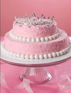 Simple and beautiful princess birthday cake