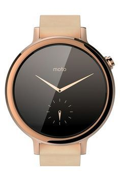 Motorola 'Moto 360 2nd Gen' Leather Strap Smart Watch, 45mm available at #Nordstrom