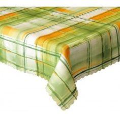 Ubrus teflonový Mřížka zelená a oranžová různé rozměry Napkins, Tableware, Dinnerware, Towels, Dinner Napkins, Tablewares, Dishes, Place Settings