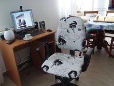 cadeira de escritório repaginada e dica de beleza