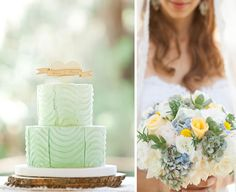 Ombre Mint Wedding Cake - PHOTO SOURCE • BIRDS OF A FEATHER
