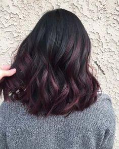 Trendy hair color red dark burgundy brows 20 Ideas Best Picture For ombre hair rose gold For Y Hair Color For Black Hair, Ombre Hair Color, Cool Hair Color, Dark Burgundy Hair Color, Purple Brown Hair, Burgundy Balayage, Black And Burgundy Hair, Subtle Purple Hair, Dark Red Hair Burgundy