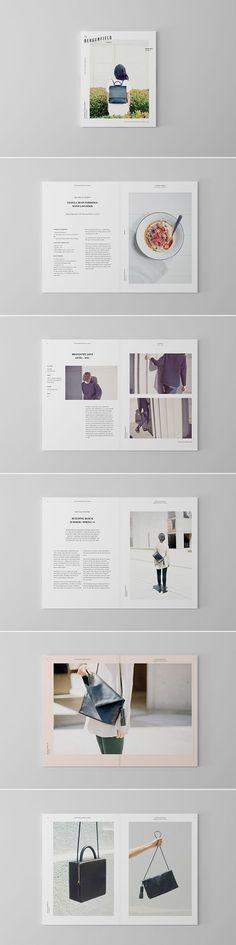 Elegancia y delicadeza a la hora de usar la tipografa y la composicin. Bergenfield / by Sorbet Design