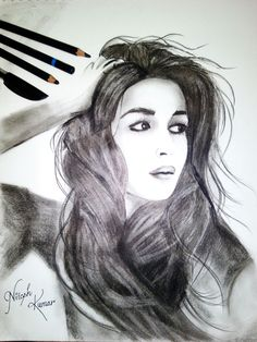 Alia bhatt charcoal sketch by Nitesh Kumar