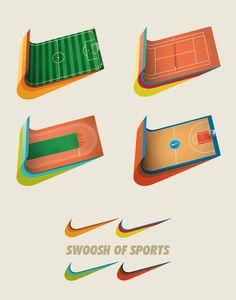 NIKE Swoosh of Sports by Hugo Silva, via Behance