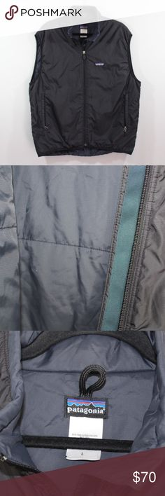 Patagonia Full Zip Puffball Outdoor Puff Vest L Patagonia Full Zip Puffball Vest  Vest  Comes from a smoke-free household  The size is Large  Measurements are:  23.5 inches underarm to underarm 27 inches top to bottom  Black  Polyester   Check out my other items for sale in my store!  J78 Patagonia Jackets & Coats Vests
