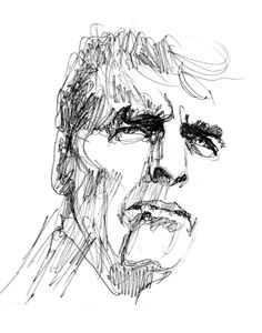 Bob Peak ~ sketch of Burt Lancaster Cool Drawings, Drawing Sketches, Pencil Drawings, Hand Drawings, Sketches Of People, Drawing People, Figure Sketching, Figure Drawing, Illustrations