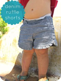 How to Turn Any Shorts Pattern into Ruffle Shorts || Prudent Baby