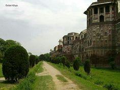 Wall of Shahi fort Lahore Punjab Pakistan
