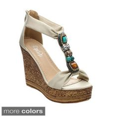 6feeb2253a8 ... Women s Ankle Strap Crossing Slingback Platform Wedges