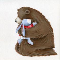 Lucy Barnard - Bear and Rabbit hugging.jpg