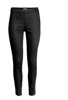 HM Black Pants Super Slim Super Stretch Slacks Size 12 (D357) #HM #CasualPants