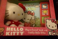 Hello Kitty Play-a-Sound Book and cuddly Hello Kitty