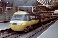 The HST (High Speed Train). When we started seeing these trains in the it was like seeing Concord on rails. They seemed so modern in their day and they could go Electric Locomotive, Diesel Locomotive, Locs, High Speed Rail, British Things, British Rail, Electric Train, Old Trains, Train Pictures