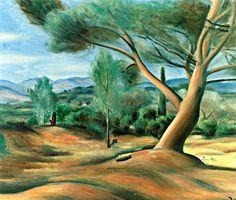 Landscape at Lecques / Andre Derain - circa 1921-1922
