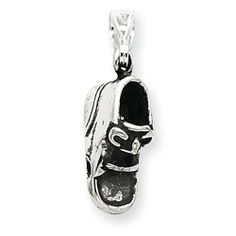 Sterling Silver Antiqued Shoe Charm Real Goldia Designer Perfect Jewelry Gift goldia. $13.94