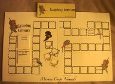 Free printable game to practice story problems: Leaping Lemurs file folder games, marin corp