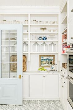 Pantry Organization - Pantry Reveal… – Pink Peonies by Rach Parcell Pantry Room, Kitchen Pantry, Kitchen Decor, Island Kitchen, Glass Kitchen, Kitchen Ideas, Hidden Kitchen, Room Kitchen, Interior Exterior