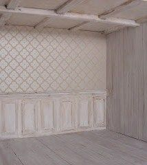 how to: shabby chic paneling