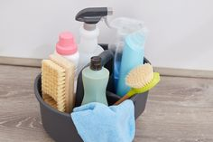 Cleaning supplies Linen Closet Organization, Organization Station, Bathroom Organization, Organization Hacks, Organising Ideas, Under Sink Storage, Small Space Storage, Neat And Tidy, Tidy Up