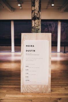 mass moca museum modern, clean, industrial, organic chic wedding welcome sign - lauren wells @laurenswells #lwellsevents