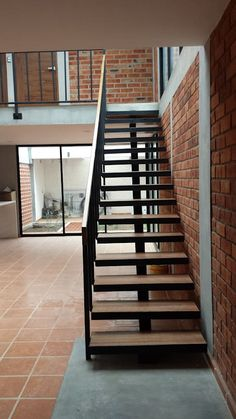 41 ideas for apartment loft penthouse decor House Staircase, Modern Staircase, Small House Design, Modern House Design, Dream House Plans, House Floor Plans, Home Design Plans, Home Interior Design, Brick Cladding