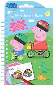 Peppa Pig - Mini Sketch Book Set. #PeppaPig - mini sketch book set includes 5 felt tip pens, 10 sketch sheets, 10 colour-in sheets and a sticker sheet. $3.99