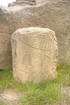 The Gnoll Stone (Cefn Hirfynydd) is part of a Celtic wheel cross. It shows a Celtic priest, in a short pleated kilt, with his hands raised in prayer. It represents Christian tradition brought to Wales by monks from Ireland.