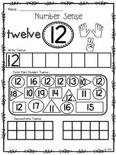 NUMBER SENSE KNOW HOW! {THE TEENS} NUMBER WORKSHEETS FOR ELEVEN - TWENTY - TeachersPayTeachers.com