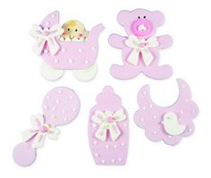 personaggi in zucchero - baby/nursery rosa www.dolcementeweb.com
