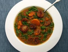 Sweet Potato and Sausage Soup from our newsletter. Play around with different types of nitrate-free sausage and spices here to make this great fall soup your own!