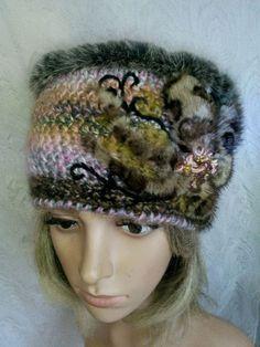 Купить Копия работы: шапка женская вязаная  МЕЛАНЖ - этно, подарок, шапка, женский, разноцветный