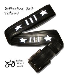 Tutorial - reflective inner tube belt, from Bicitoro. Lots of tips for sewing on inner tubes.