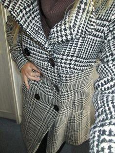 Zimní kabát s kohoutí stopou