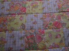 Country Cottage Easter Holiday Bunnies, Chick & Eggs Patchwork Throw Quilt - 44 inches x 63 inches - $50.00 - Ebay - HomeSweetHomeQuilts - See all my items in my Ebay Store