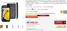 Smartphone Moto E (2ª Geração) 8GB Dual Chip Câmera 5MP Tela 4.5 Android 5.0 Quad-Core de 1.2GHz << R$ 37900 >>