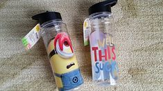Despicable Me Well This Sucks 9 Inch Water Bottle (Twin Pack) @ niftywarehouse.com #NiftyWarehouse #DespicableMe #Movie #Minions #Movies #Minion #Animated #Kids
